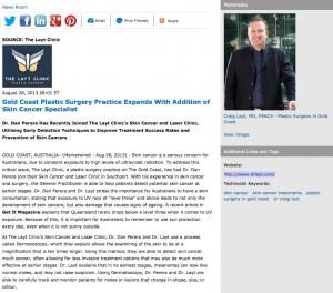 plastic surger, Dr. Dan Perera, The Layt Clinic, sunscreen