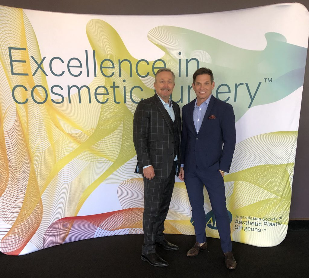 Dr. Craig Layt and Dr. Brad Calobrace at ASPS, Brisbane 2019